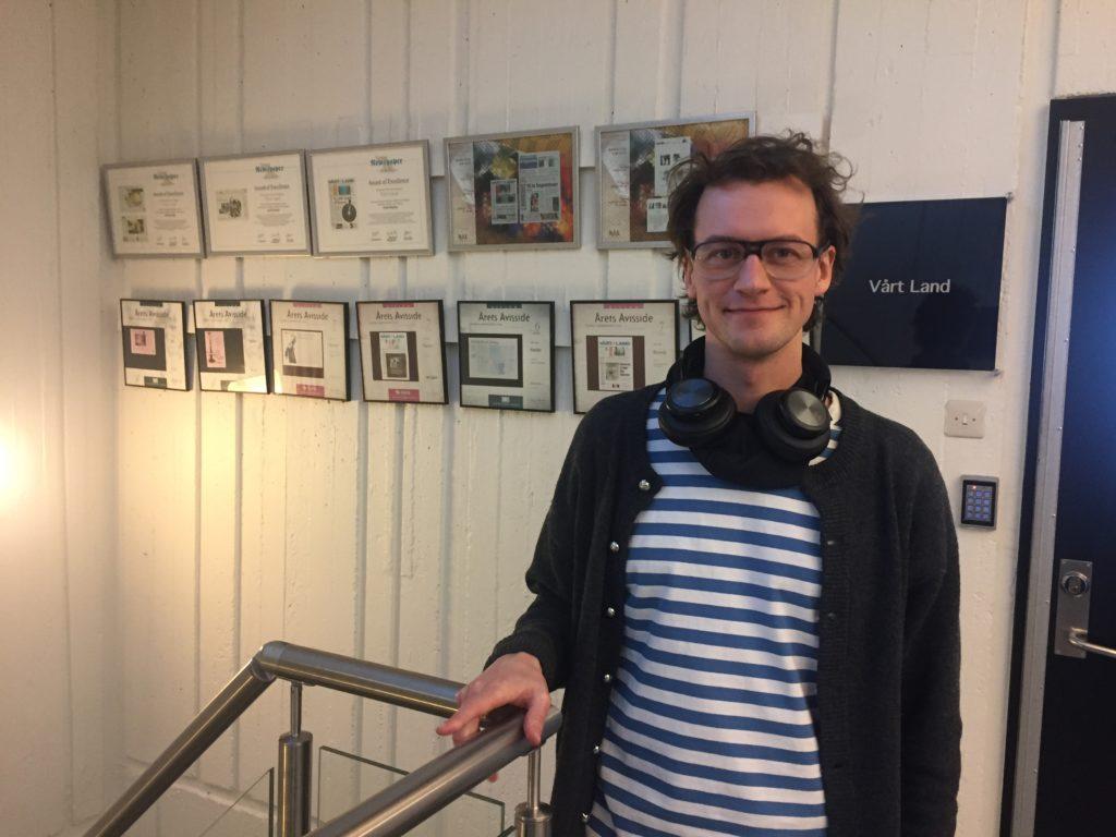 David Sviland, kull 11, hausten 2018, praksis Vårt Land. Foto: Kjell Ove Nordeide